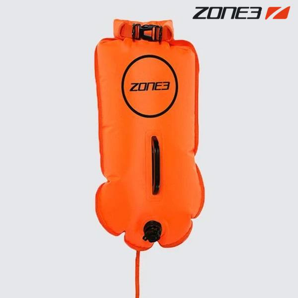 ZONE3 SAFETY BUOY & DRY BAG 28L NEON ORANGE 안전부이