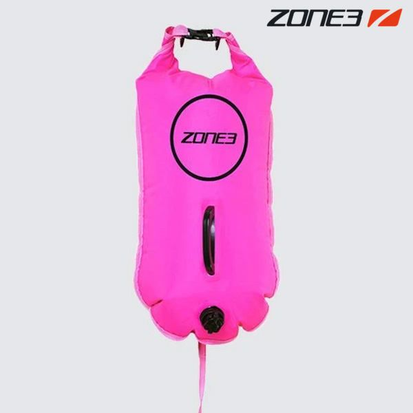 ZONE3 SAFETY BUOY & DRY BAG 28L NEON PINK 안전부이