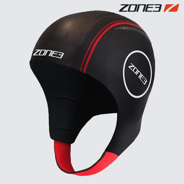 ZONE3 NEOPRENE CAP BLACK-RED 철인3종 후드
