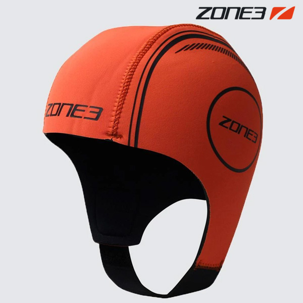 ZONE3 NEOPRENE CAP NEON ORANGE 철인3종 후드