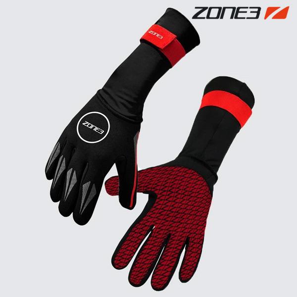 ZONE3 NEOPRENE GLOVES BLACK-RED 철인3종 장갑