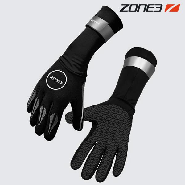 ZONE3 NEOPRENE GLOVES BLK-REFLECTIVE SVR 철인3종 장갑