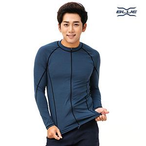 XMT-6103T-NGY 엑스블루 남성 긴팔 집업 래쉬가드